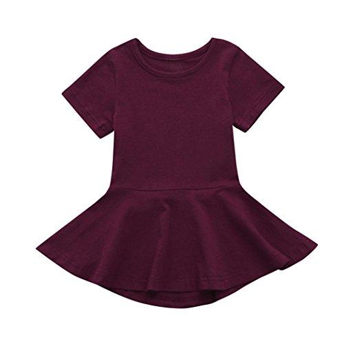 0454c97d Dress For Girls,Convinced Princess Dress Short Sleeve Candy Color Tutu  Casual Dress Kids Dress