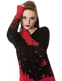 Banned - DARK SKYLINE - Women's Long Sleeve Fine Knit Cardigan, Jumper