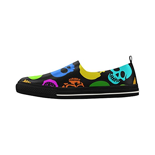 Slip Custom D Psychedelic Story Skull Sneaker Mens Shoes Microfiber Colors Colori on BwpSqA