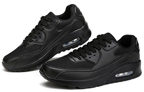 Unisex 10 Sports 3 Fitness Women's Air GFONE Shoes Size Men's Running Trainers Trainers 5 Sneakers BlackMesh Jogging ZEqfF