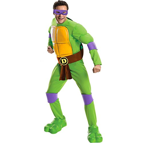 [Rubie's Men's Teenage Mutant Ninja Turtles Costume, Standard, Green] (Donatello Teenage Mutant Ninja Turtles)
