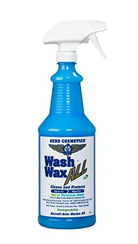Aero Cosmetics Wet or Waterless Car Wash Wax 32 oz. Aircraft Quality Wash Wax for Your Car RV & Boat. Guaranteed Best Waterless Wash on The Market