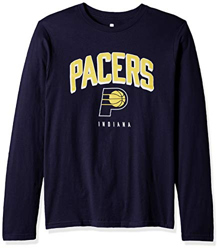 Outerstuff NBA NBA Youth Boys Indiana Pacers Dunked Long Sleeve Tee, Navy, Youth Small(8)