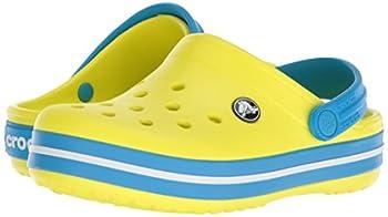 Crocs Kids' Crocband K Clog,tennis Ball Greenocean,9 M Us Toddler 8