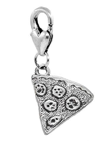 Pepperoni Pizza Slice Italian Food Clip Dangle Charm for Bracelets