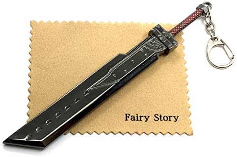 【Fairy Story】 ファイナルファンタジーⅦ FF7 クラウド バスターソード モチーフ キーホルダー 16.5cmモデル コスプレ FINAL FANTASYVII A