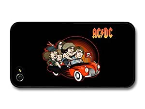 ACDC Band Illustration Riding Car to 666 case for iPhone 4 4S A7207