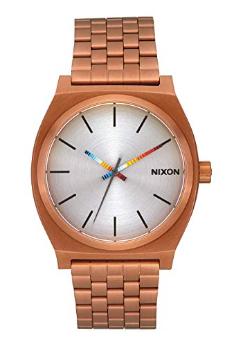 NIXON Time Teller A077 - Copper/Serape - 132M Water Resistant Men's Analog Fashion Watch (37mm Watch Face, 19.5mm-18mm Stainless Steel Band)