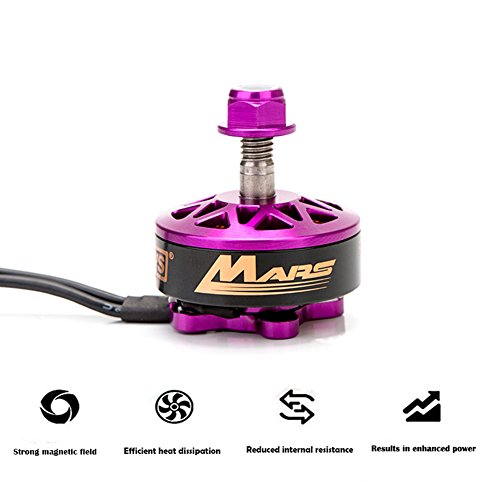 DYS MARS RC Brushless Motor,2750KV 3-6S Brushless Motor for 230 250 280 300 FPV Racing Frame Multirotor Quadcopter in Purple (MARS 2750KV CCW)