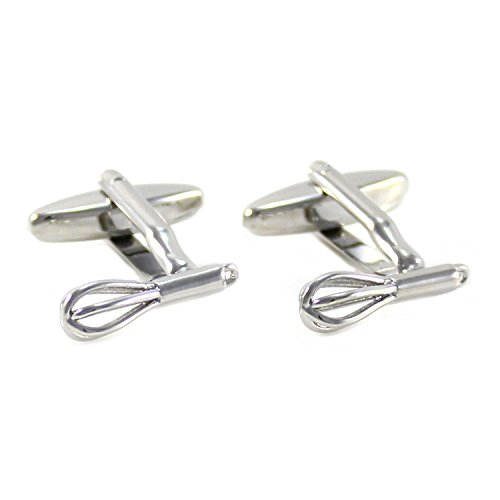 MENDEPOT Whisk Cufflinks with Box Kitchen Tools Whisk Cufflinks in Box