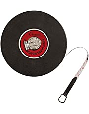 Champion Sports Closed Reel Measure Tape - Measuring Tapes with Hand Crank for Track and Field, Long Jump, Landscaping - Durable, Dual-Sided Measuring Reel with Feet and Meters - Multiple Lengths