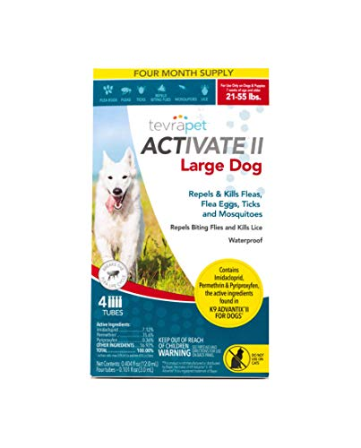 TevraPet Activate II Flea and Tick Prevention for Dogs – Topical, 21-55 Lbs from TevraPet