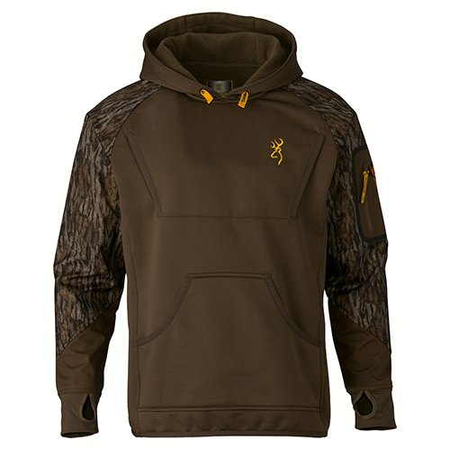 (Browning 3016281901 Wicked Wing Timber Fleece Hoodie, Mossy Oak Bottomlands,)