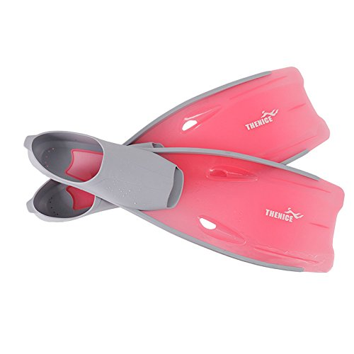 (ADSRO Snorkeling Fins, Long Snorkeling Swim Fins Translucent Diving Flippers for Adult Swimming Duck Feet Swim Travel Open Heel Flippers Snorkelling Frog Shoes)