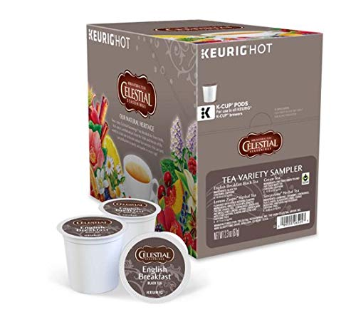 Keurig Tea and Ice Tea Pods K-Cups 18/22 / 24 Count Capsules ALL BRANDS/FLAVORS (Twinings/Chai/Celestial/Lipton/Tazo/Diet Snapple) (22 Pods Celestial Seasonings Variety Tea Box) -  Globalpixels
