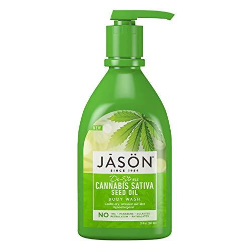 Jason Natural Body Wash & Shower Gel, De-Stress Cannabis Sativa Seed Oil, 30 Oz