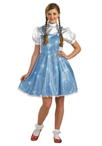 [Womens Sequin Dorothy Costume Standard] (Dorothy Womens Costumes)