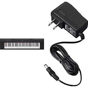 Yamaha NP12 61-Key Lightweight Portable Keyboard, Black with AC Power Adaptor