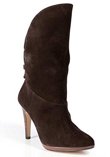 Unbekannt - Botas de Gamuza para mujer Marrón marrón Marrón - marrón oscuro