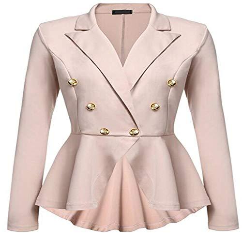 Sport Madras Coat (Womens Slim Fit Office Elegant Female Solid Button Plus Size Jackets Blazer)