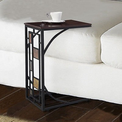 Coffee Tray Side Sofa Table Ottoman Couch Room Console Stand End TV Lap Snack - Kidney Shape Accent Table