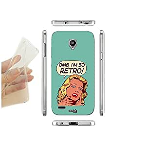 FUNDA CARCASA SLIM RETRO GIRL PARA VODAFONE SMART PRIME 6 TPU