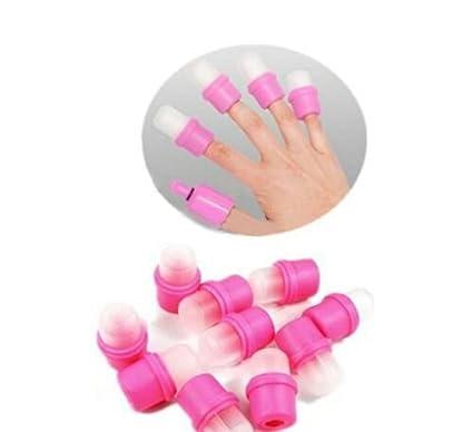 Reutilizable para quitar de aplicación de uñas postizas acrílicas/uñas Gel Off fácil de usar el baño de plástico decorar ...