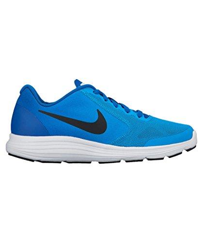 Nike Barn Revolution 3 (gs) Löparskor Blå Bana / Svart / Blåttjay / Vit