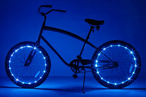 20 Spinning Rims - Brightz, Ltd. Wheel Brightz LED Bicycle Accessory Light (2-Pack Bundle for 2 Tires), Blue