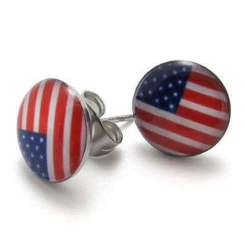 KONOV Stainless Steel American Earrings
