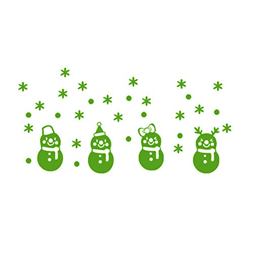 Narutosak Lovely Snowman Snowflake Luminous Glow in Dark Wall Sticker Home Decoration - Green (Name Of The Boy In The Snowman)