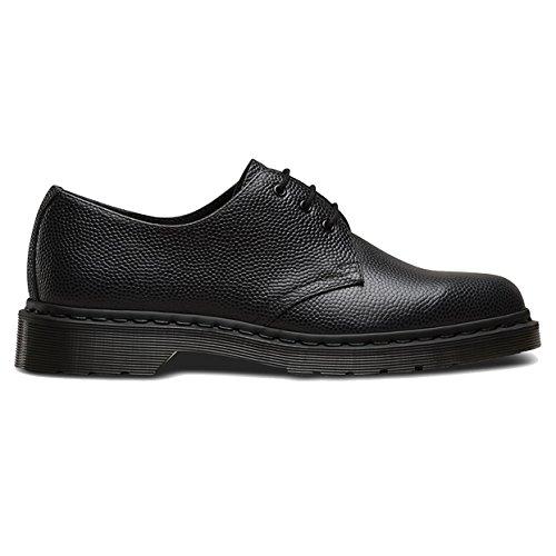 Dr. Martens Men's 1461 3-Eye Shoe,Black Pebble,UK 5 M