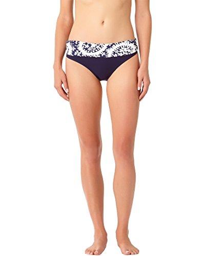Anne Cole Women's Foldover Bikini Swim Bottom, Navy White, M Anne Cole Bikini