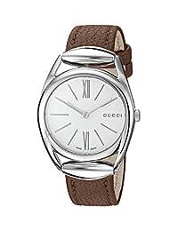 Gucci Women's YA140401 Analog Display Swiss Quartz Brown Watch