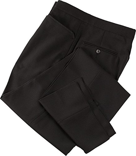 Smitty Referee with Western Cut Pockets and Belt Largeloops Pants, Black, 36-Inch
