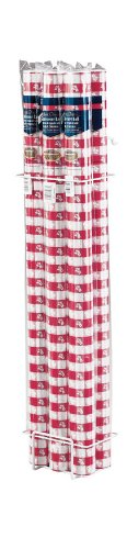 Creative Converting Roll Plastic Table Cover, 100-Feet, Red Gingham - Gingham Plastic Banquet Roll