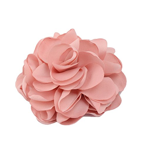 Women Ponytail Holder Hair Ties with Fabric Camellia Flower Rope Ring Ties JA90 (Pink) (Lakers Costume)