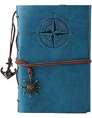 Libreta Bonitas Cuaderno de Viaje Bloc Notas Cuero Vintage entre A6 Regalos Originales de Navidad San Valentín Cumpleaños Aniversario Boda Mujer