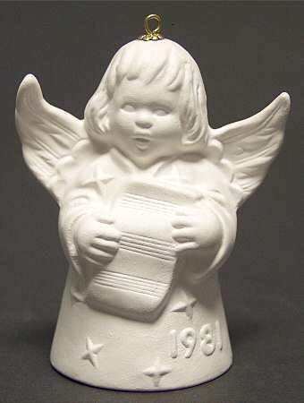 Goebel ** 1981 Annual Angel Bell - White ** 1981W