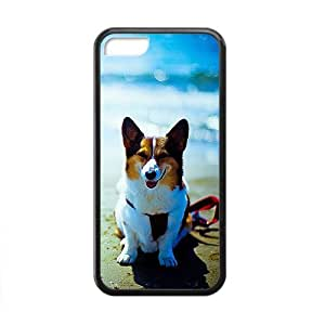 Customize Cute Dog On Beach Sea Phone Case for Iphone 5c Phone Case Cover Loskin customize case