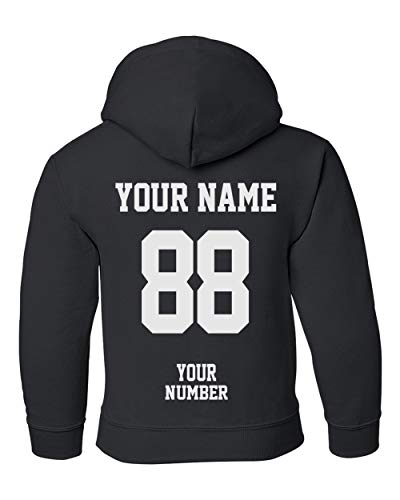 Custom Hoodies for Youth - Design Your OWN Jersey - Pullover Hooded Team Sweaters Black