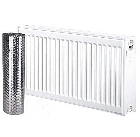 Solar bahía Radkit 5m x 60cm ahorro de energía Radiador de calor reflector aluminio doble aislamiento de burbuja única incluye cinta de fijación: Amazon.es: ...