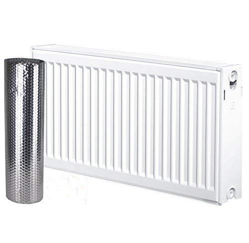 Solaire Baie Radkit 5m x 60cm d'économie d'énergie Réflecteur de chaleur pour radiateur double Comprend film isolant à bulles Ruban adhésif de fixation Solar Bay RadkitSA
