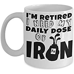 COFFEE MUG GOLF ~ best gifts for golfer-women/men-black/polar golfers excuse-lady/female-African/American-golfing players-retirement gift-funny-frustrated-for dad/her/him/personalized-novelty