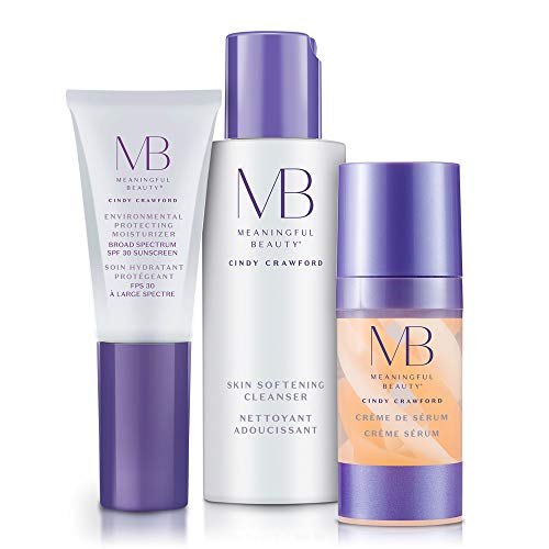 Meaningful Beauty - Anti-Aging Daily Skincare System - for Hydration, Firmness, and Radiant Glow - 3 Piece/Travel Size Kit - MT.2065 Anti Aging Skin Care System
