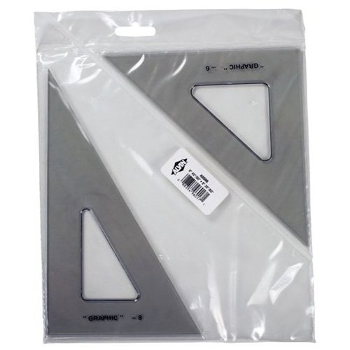 "Alvin AS680 6"" & 8"" Transparent Triangle Set"