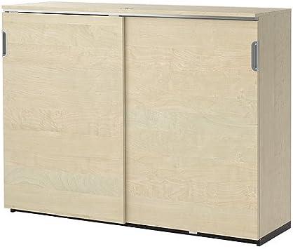 IKEA armario con puertas correderas, Brich chapado 38210.22017.62: Amazon.es: Bricolaje y herramientas