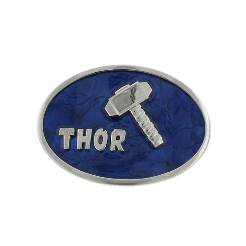 (Marvel Comics Jewelry The Mighty Thor Glossy Blue Hammer Belt Buckle 3004)