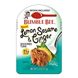 Bumble Bee Lemon Sesame and Ginger Seasoned Tuna 2.5 Ounce Pouch 1 Pack