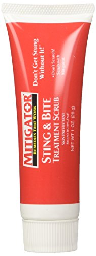 Mitigator Sting & Bite Scrub Treatment Skin Protectant Relieves Itching Fast!, 1 oz Tube ()